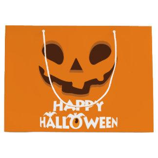 Jack O Laterne.  Glückliches Halloween Große Geschenktüte