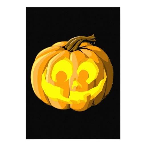 Jack O Laterne Halloween-Einladung