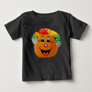 Jack o Laternen-Clown-Gesicht, Halloween-Kürbis Baby T-shirt