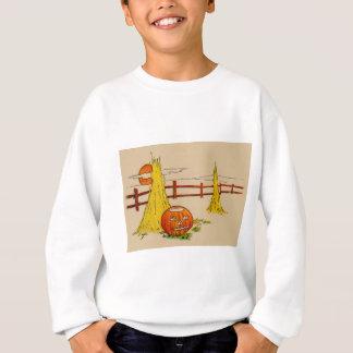 Jack O Laternen-Heuschober-Vollmond-Wolken Sweatshirt