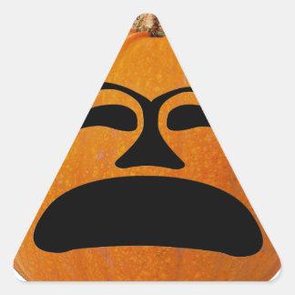 Jack o Laternen-unglückliches Gesicht, Dreieckiger Aufkleber