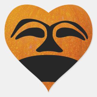 Jack o Laternen-unglückliches Gesicht, Herz-Aufkleber