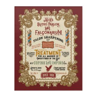 Jack O'Hares Buteo Wohnzimmer und Falconarium Acryl Wandkunst