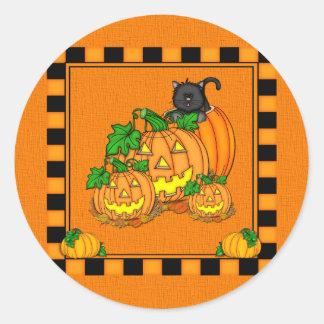 Jack O'Lanterns Halloween Runder Aufkleber