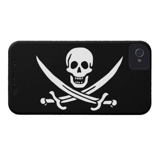 Jack Rackham; Piratenflagge-Flagge; Pirat Case-Mate iPhone 4 Hülle