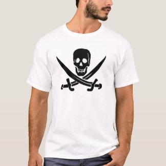 Jack Rackham-Schwarz T-Shirt
