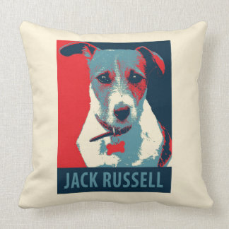 Jack-Russel-Terrier-politische Hoffnungs-Parodie Kissen