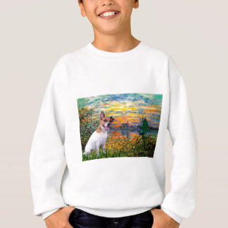 Jack Russell 8 - Sonnenuntergang Sweatshirt