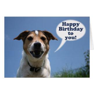 Jack-Russell-Hundalles Gute zum Geburtstagkarte Karten