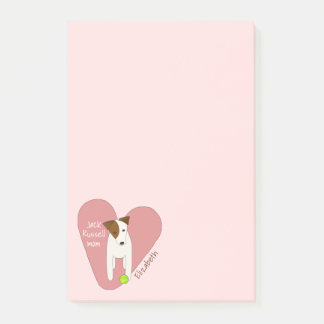 Jack-Russell-Mammarosaherz-Liebe-Tennisball Post-it Klebezettel