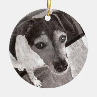 Jack-Russell-Porträt Keramik Ornament