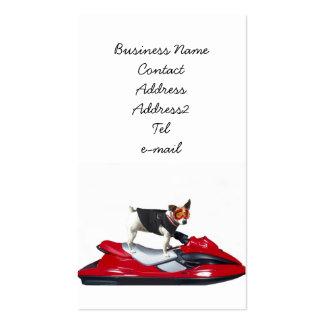 Jack-Russell-Terrier auf jetski Geschäftskarte Visitenkarten