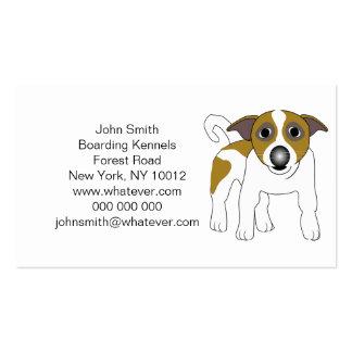 Jack-Russell-Terrier-Boarding-Hundehütten Visitenkartenvorlage