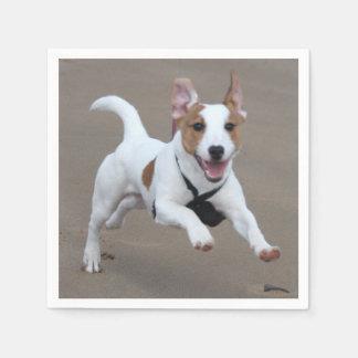 Jack_Russell Terrier, der 2.png laufen lässt Serviette