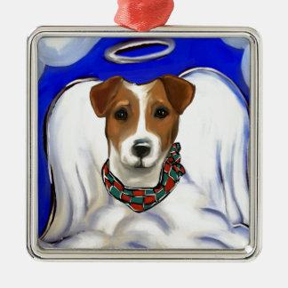Jack-Russell-Terrier-Engel Silbernes Ornament
