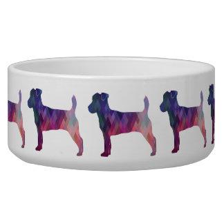 Jack-Russell-Terrier-geometrische Napf