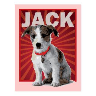 Jack-Russell-Terrier-Haustier-Inhaber Postkarte