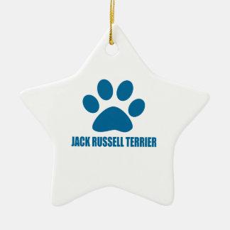 JACK-RUSSELL-TERRIER-HUNDEentwürfe Keramik Ornament