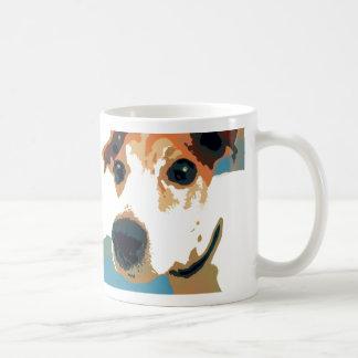 Jack-Russell-Terrier-Pop-Kunst-Kaffee-Tasse Tasse