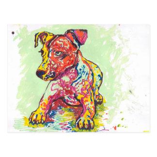 Jack-Russell-Terrier Postkarte