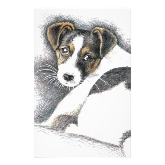 Jack Russell Terrier Puppy Briefpapier
