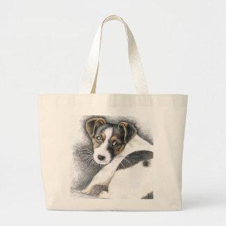 Jack Russell Terrier Puppy Jumbo Stoffbeutel