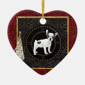 Jack-Russell-Terrier, runde Form, unterzeichnen Keramik Ornament