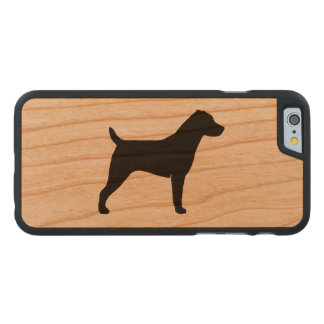 Jack-Russell-Terrier-Silhouette Carved® iPhone 6 Hülle Kirsche