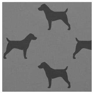 Jack-Russell-Terrier-Silhouette-Muster Stoff