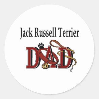 Jack-Russell-Terrier-Vati-Aufkleber Runder Aufkleber