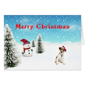 Jack-Russell-Terrier-Weihnachtskarte Karte
