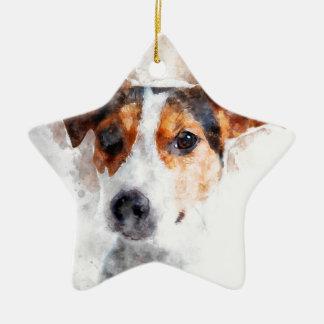 Jack-Russell-Terrierwatercolor-Kunst Keramik Ornament