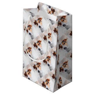 Jack-Russell-Terrierwatercolor-Kunst Kleine Geschenktüte