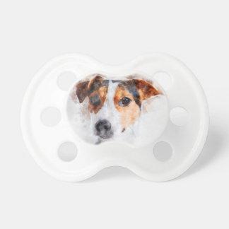 Jack-Russell-Terrierwatercolor-Kunst Schnuller