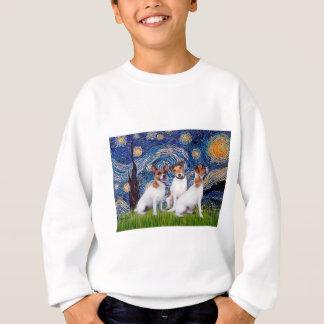 Jack-Russell-Trio - Starry Nacht Sweatshirt