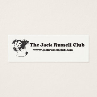 Jack-Russell-Verein-Karten Mini Visitenkarte