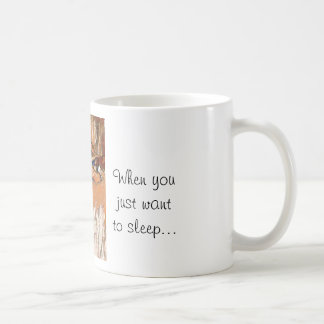 Jack Russells Schlafenzitat-Tasse Kaffeetasse
