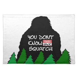 Jack Squatch Tischset