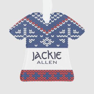 Jackie Allen strickte Strickjacke-Entwurf Ornament