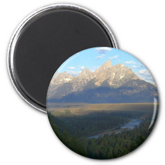 Jackson- Holeberge (großartiger Teton Runder Magnet 5,7 Cm
