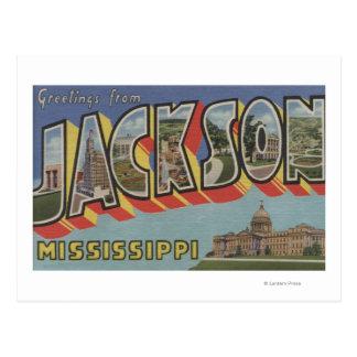 Jackson, Mississippi - große Buchstabe-Szenen Postkarte