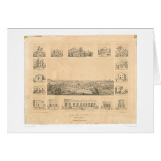 Jackson, panoramische Karte 1857 (0766A) CA
