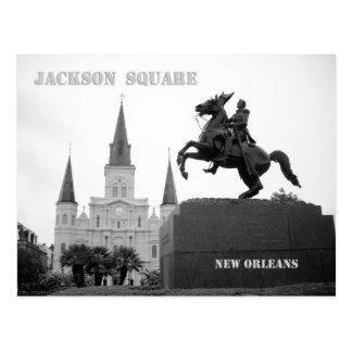 Jackson-Quadrat, New Orleans Postkarte