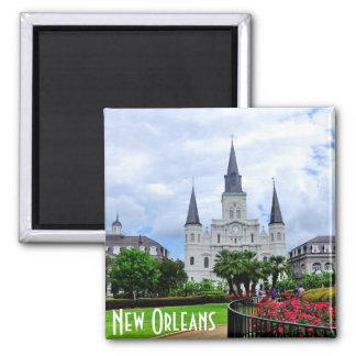 Jackson-Quadrat, New- Orleansmagnet Quadratischer Magnet