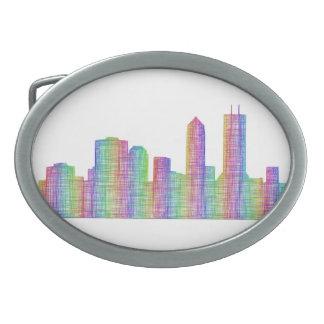 Jacksonville-Stadt-Skyline Ovale Gürtelschnalle