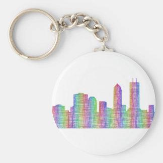 Jacksonville-Stadt-Skyline Schlüsselanhänger