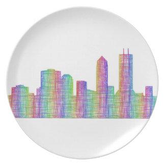 Jacksonville-Stadt-Skyline Teller