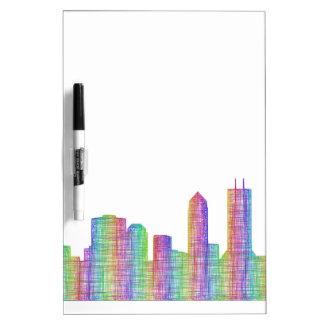 Jacksonville-Stadt-Skyline Trockenlöschtafel