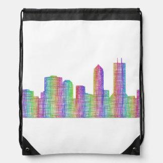 Jacksonville-Stadt-Skyline Turnbeutel