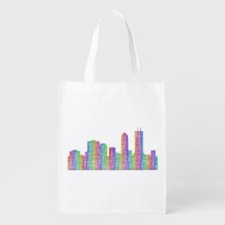 Jacksonville-Stadt-Skyline Wiederverwendbare Einkaufstasche